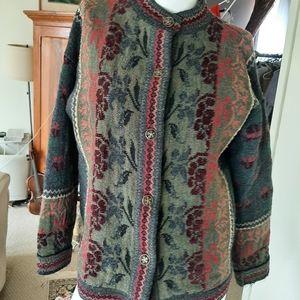 Sherry Lewis vintage cardigan england